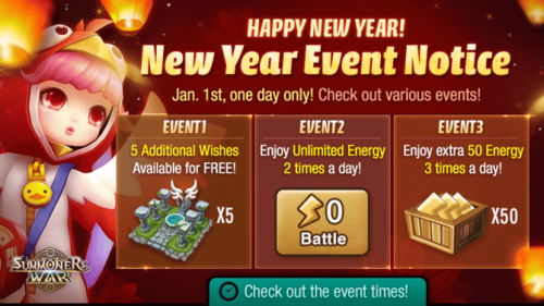Summoners War: New Year's Event 1 Fortune Cookie Event