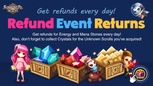 Summoners War: эвент Energy & Mana Stone Refund